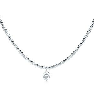 Return to Tiffany Heart Beaded Necklce